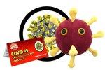 Giant Microbes Plush - Science Biology Disease 01081 COVID-19 Coronavirus Disease 2019