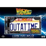 Doctor Collector Metal Plate - Scifi Back to the Future 1285 License Plate Replica OUTATIME DeLorean