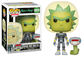 Funko Pop! Vinyl Figure - Animation Rick and Morty 689 Space Suit Rick with Snake