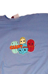 Giant Microbes T-shirt (blauw) - Large