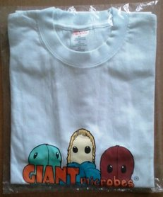 Giant Microbes T-shirt (wit) - Large