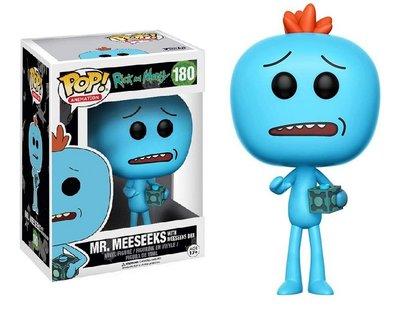 Funko Pop! Vinyl figuur - Animatie Rick and Morty 180 Mr.Meeseeks with Meeseeks Box