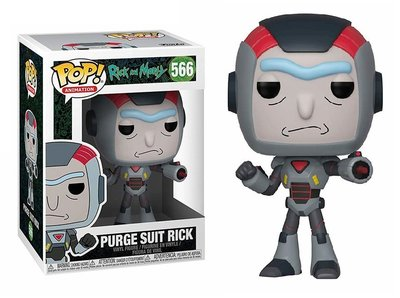 Funko Pop! Vinyl figuur - Animatie Rick and Morty 566 Rick in Purge Suit
