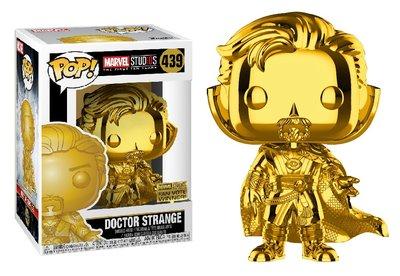 Funko Pop! Vinyl figuur - Marvel Cinematic Universe The First 10 Years 439 Doctor Strange Chrome Fan Vote Winner