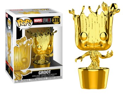 Funko Pop! Vinyl figuur - Marvel Cinematic Universe The First 10 Years 378 Groot Chrome