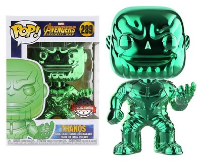 Funko Pop! Vinyl figuur - Marvel Avengers Infinity War 289 Thanos groene Chrome Special Edition