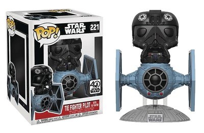 Funko Pop! Vinyl figuur - Star Wars A New Hope 40th Anniversary 219 TIE Fighter Pilot with TIE Fighter
