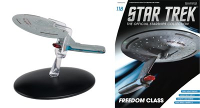 Eaglemoss model - Star Trek The Official Starships Collection 118 USS Firebrand Freedom Class  NCC-68723