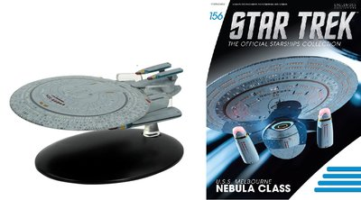 Eaglemoss model - Star Trek The Official Starships Collection 156 USS Melbourne Nebula Class NCC-62043