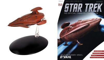 Eaglemoss model - Star Trek The Official Starships Collection 155 Vulcan Survey Vessel D'Vahl