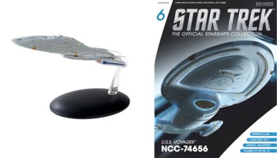 Eaglemoss model - Star Trek The Official Starships Collection Bonus Edition B15 USS Voyager Assimilated NCC-74656