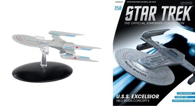 Eaglemoss model - Star Trek The Official Starships Collection 158 USS Excelsior Nilo Rodis Concecpt II NCC-2000