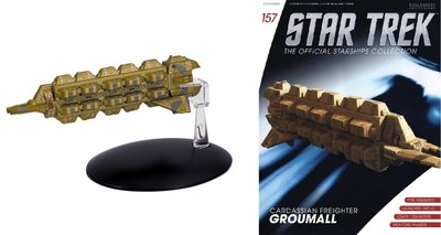 Eaglemoss model - Star Trek The Official Starships Collection 157 Cardassian Freighter Groumall