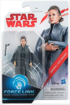 Hasbro actiefiguur - Star Wars The Last Jedi Force Link C1503/C3527 Leia Organa General