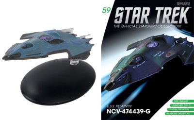 Eaglemoss model - Star Trek The Official Starships Collection 59 USS Relativity NCV-474439-G