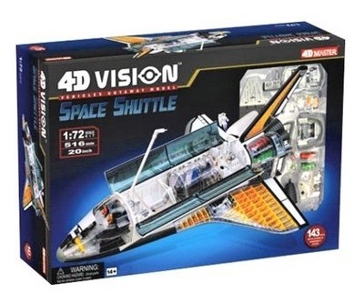 4D Master 4D puzzel - Technologie lucht- en ruimtevaart vliegtuig doorsnede model 26116 Space Shuttle 1:72 Scale