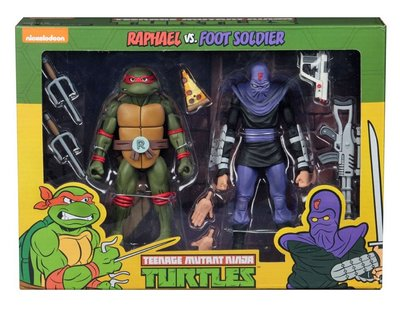 Neca actiefiguur - Actie Teenage Mutant Ninja Turtles Cartoon 54079 Raphael vs. Foot Soldier