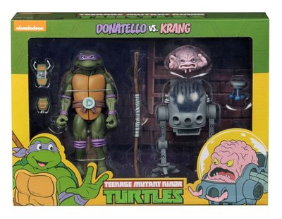 Neca actiefiguur - Actie Teenage Mutant Ninja Turtles Cartoon 54078 Donatello vs. Krang