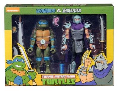 Neca actiefiguur - Actie Teenage Mutant Ninja Turtles Cartoon 54077 Leonardo vs. Shredder