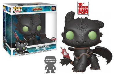 Funko Pop! Vinyl figuur - Animatie How to Train your Dragon 10 inch 686 Toothless Special Edition