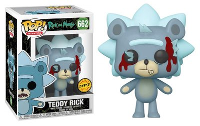 Funko Pop! Vinyl figuur - Animatie Rick and Morty 662 Teddy Rick Chase