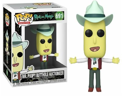 Funko Pop! Vinyl Figure - Animation Rick and Morty 691 Mr. Poopy Butthole Auctioneer