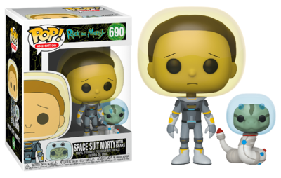 Funko Pop! Vinyl Figure - Animation Rick and Morty 690 Space Suit Morty with Snake