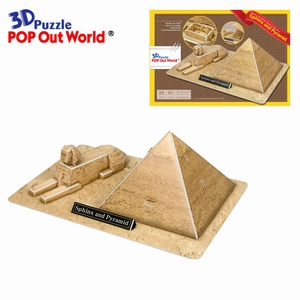 3D Puzzel: Sphinx and Pyramid