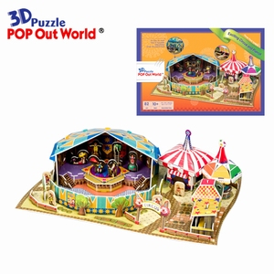 3D Puzzel: Exciting Circus and Pierrot