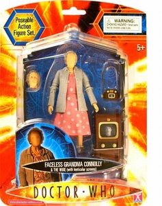 Doctor Who Faceless Grandma Connolly & The Wire set