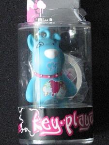 Key-Playaz sleutelhanger: Hond blauw (70412)