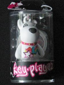 Key-Playaz sleutelhanger: Hond wit (70411)