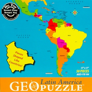 GeoPuzzel Zuid-Amerika (Latijns-Amerika)