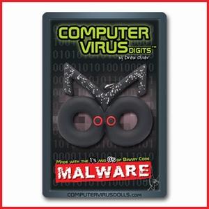 Computervirus sleutelhanger Malware