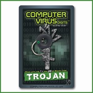 Computervirus sleutelhanger Trojan