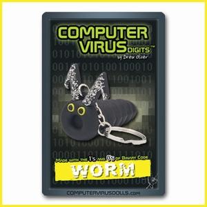 Computervirus sleutelhanger Worm