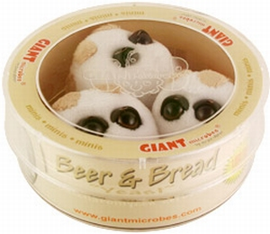 Giant Microbes Petri schaal Beer & Bread (Gist)
