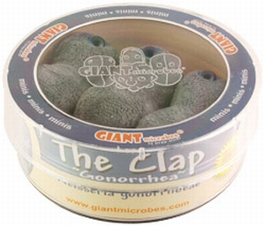 Giant Microbes Petri schaal Clap - Gonorrhea (gonorroe)