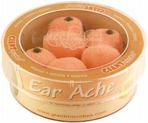 Giant Microbes Petri schaal Ear ache (oorpijn/ontsteking)