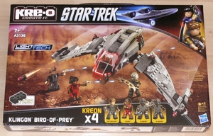 Star Trek Kre-o set A3136 Klingon Bird-of-Prey