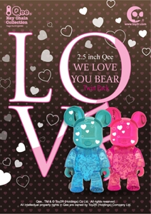 Qee We Love You Bear set