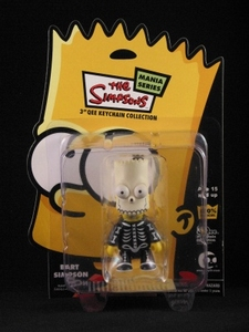 Bart Simpson 3 inch Qee Halloween: Bart Bone Skeleton Mask