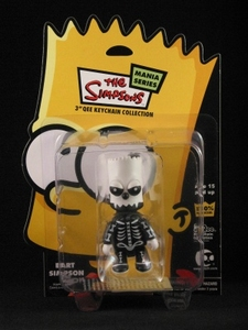 Bart Simpson 3 inch Qee Halloween: Bart Bone Skeleton Toyer1