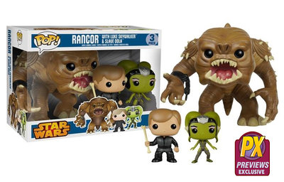 Funko POP! Star Wars 3 Pack Rancor, Luke, Oola