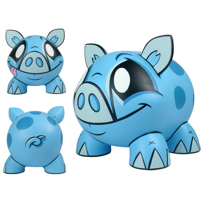 Piggy Bank blue - Spaarpot blauw (Joe Ledbetter)