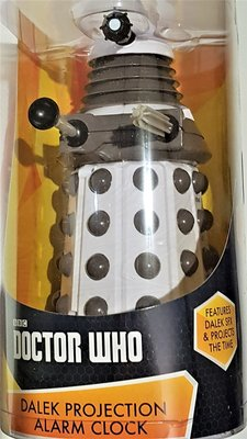 Doctor Who Dalek projectie wekker wit