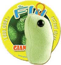 Giant Microbes Sleutelhanger Flu (Griep)