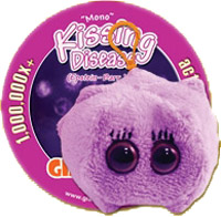 Giant Microbes Sleutelhanger Kissing disease (Pfeiffer)
