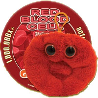 Giant Microbes Sleutelhanger Red Bloodcell (rode bloedcel)