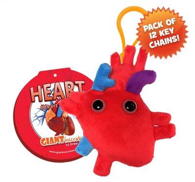 Giant Microbes Sleutelhanger Heart (Hart)